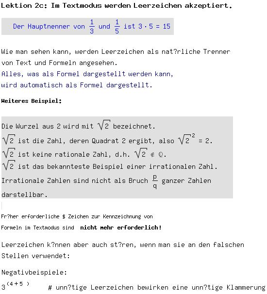 als mail an - Irrationale Zahlen Beispiele